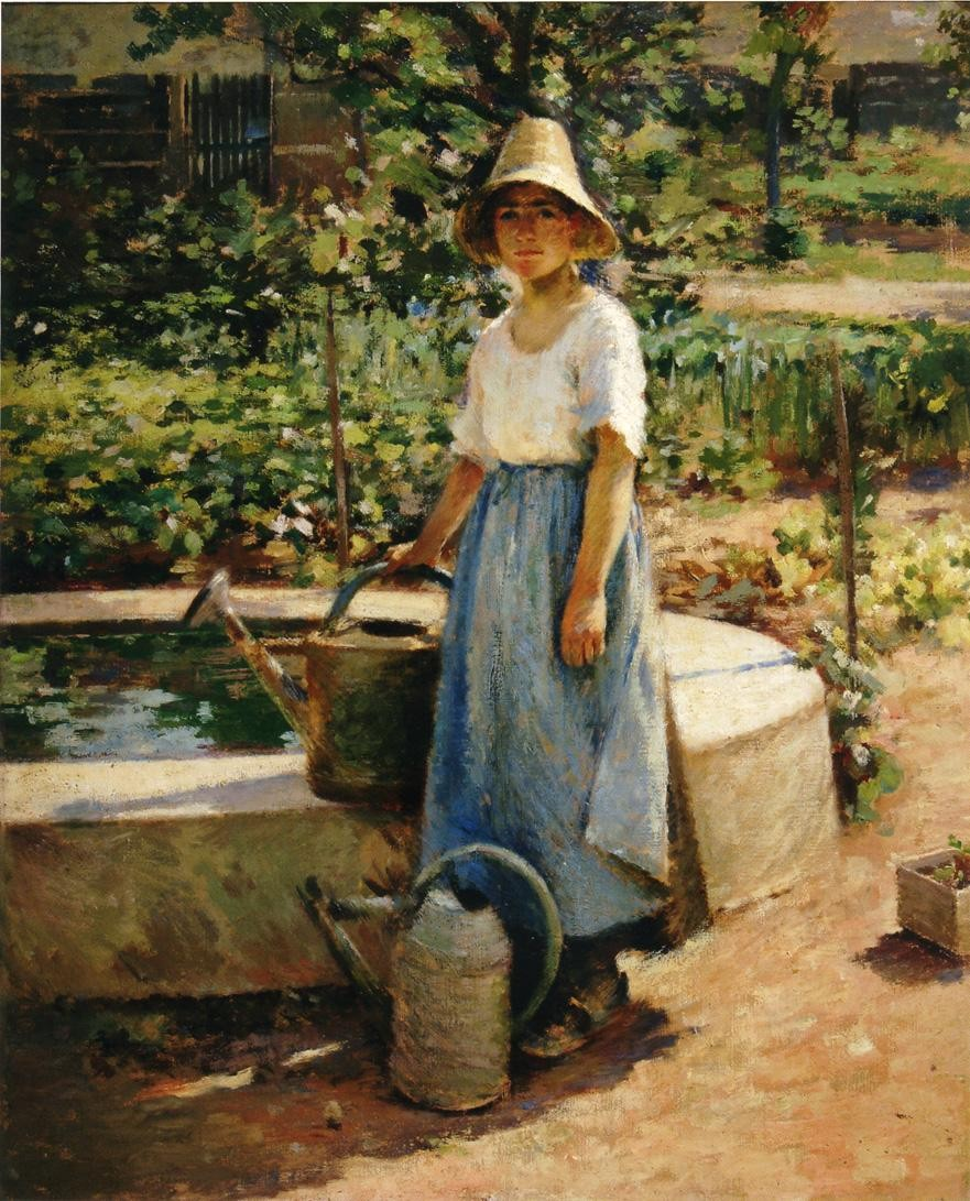 Theodore Robinson At the Fountain