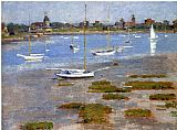 Theodore Robinson Low Tide The Riverside Yacht Club painting