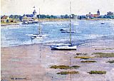 Theodore Robinson Low Tide painting
