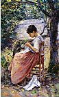 Theodore Robinson The Layette painting