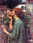 Cottage paintings - My Sweet Rose by John William Waterhouse
